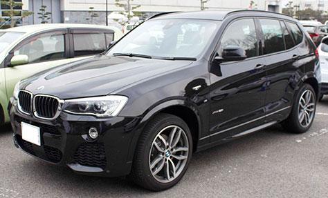 BMW X3 MSport 前面画像