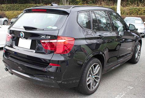 BMW X3 MSport 後部画像