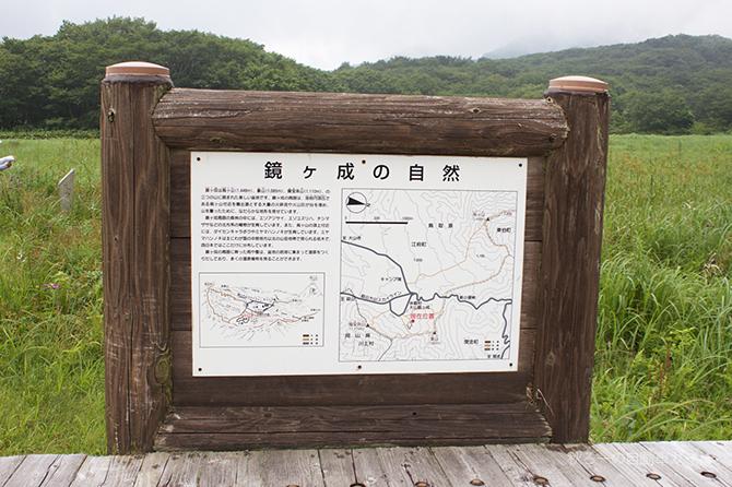 湿原地帯の案内図