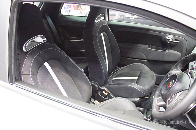 アバルト500のシートの画像