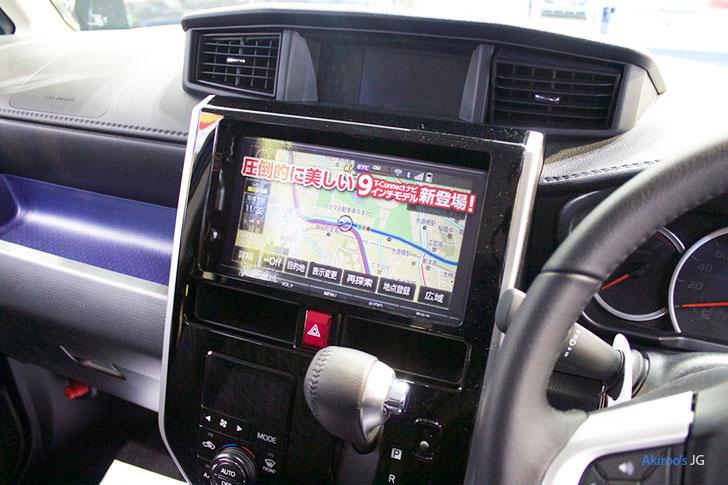 トヨタ タンク カスタム G-Tのナビ