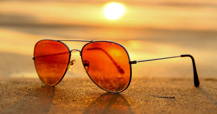夕日のサングラス