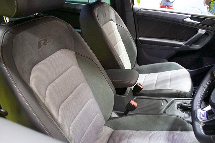 VWティグアンのフロントシート