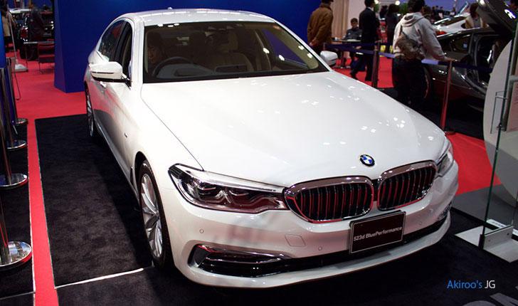 BMW523dのフロント