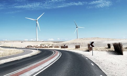 風力発電と道
