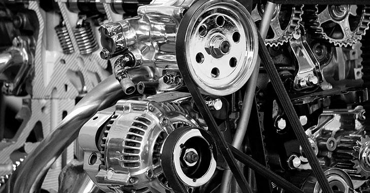 白黒のエンジン