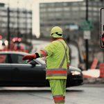 道路工事の誘導係