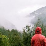 天候不順の山