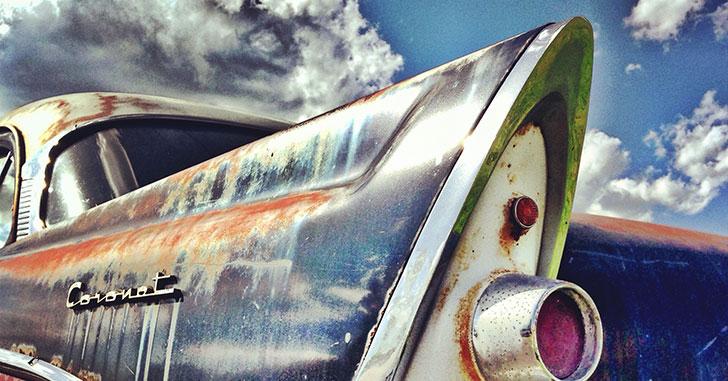 錆の浮いたクラシックカー