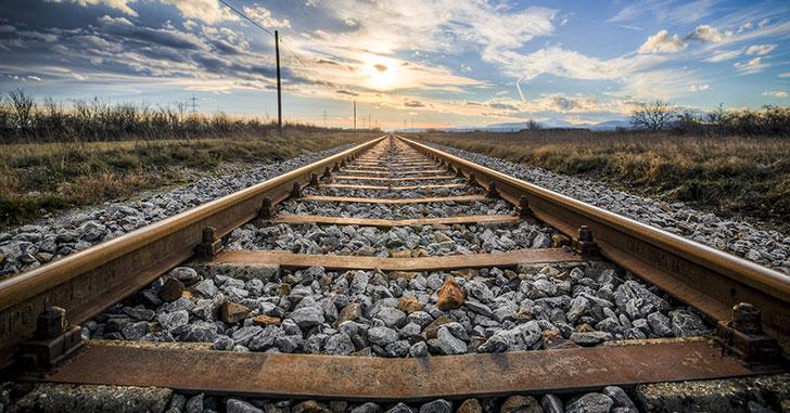 青空と線路