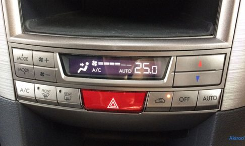 レガシィの全自動エアコン