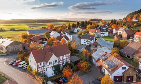 秋色に染まる住宅街