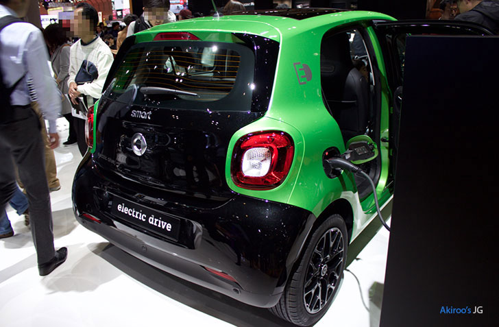 smart electric driveのリア