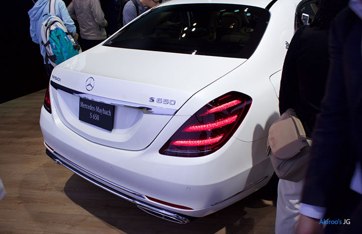 「Mercedes-Maybach S 650」のリア