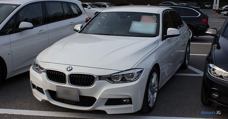 BMW 318i M Sportのフロント