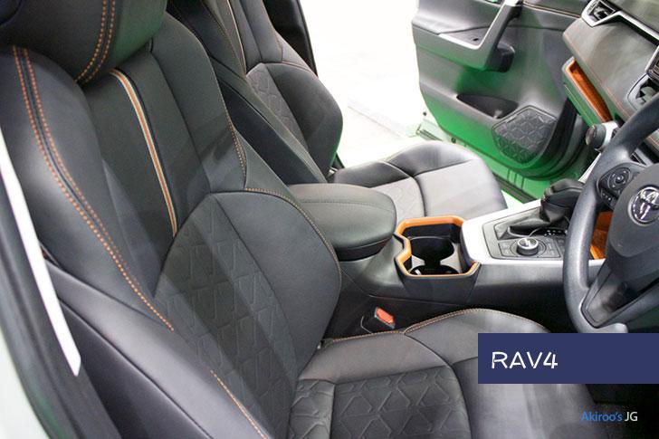 トヨタRAV4のフロントシート